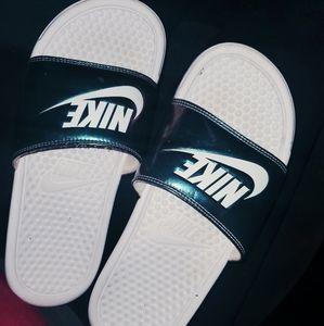Nike Slides Iridescent